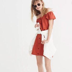 Madewell Texture & Thread Off Shoulder Knit Dress
